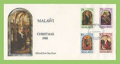 Malawi 1988 Christmas set on First Day Cover
