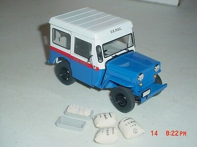 1/24 DANBURY MINT 1954 WILLYS JEEP U.S.MAIL POSTAL VEHICLE EXCELLENT NO BOX