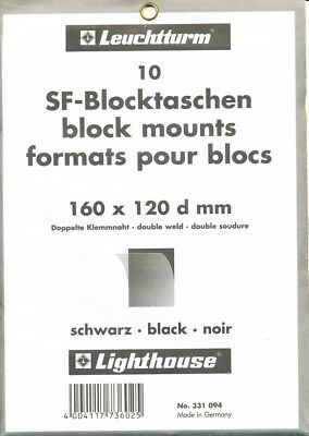 Pack of 10 Black Lighthouse SF-Mounts 160mm wide by 120mm high.
