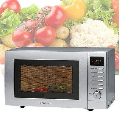 2 in 1 Kombi Mikrowelle Grill 900 Watt Grill Beleuchtung Timer Clatronic mwg 787