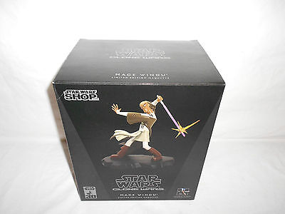 STAR WARS GENTLE GIANT ANIMATED CLONE MACE WINDU MAQUETTE 2007 FREE US SHIPPING