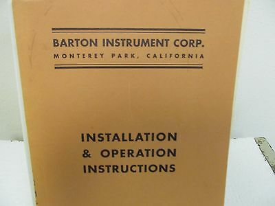 Barton Model 200 Differential Pressure Indicator Instruction Manual w/schematic