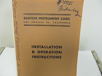 Barton Model 181 Indicator Installation & Operating Instructions Manual
