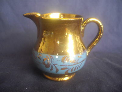 SMALL VICTORIAN COPPER LUSTER POTTERY JUG