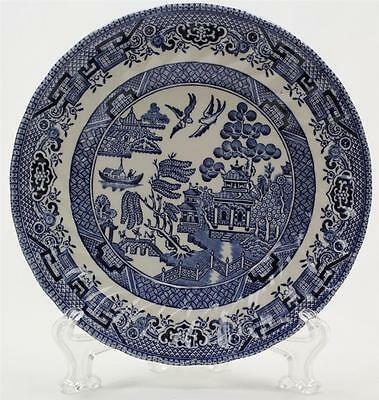 """WESSEX COLLECTION 1983 BLUE WILLOW DESSERT BREAD PLATE MADE IN ENGLAND 6.75"""""""