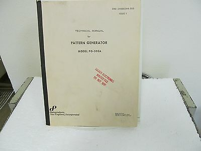 Dataproducts PG-303A Pattern Generator Technical Manual w/schematics