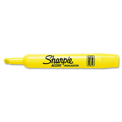 12 Sharpie Accent Tank Highlighter Chisel Tip Yellow
