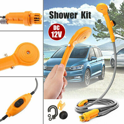 12V Portable Automobile Shower Set Water Pump Travel Trip Camp Boat Car Caravan