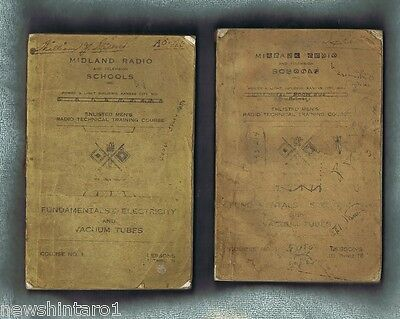 #ee. Two Wwii  Usa  Enlisted Men's Radio School Course Books