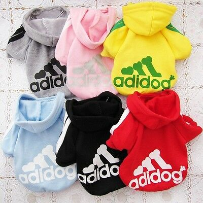 Dog Coat Clothes Pet Puppy Hoodie Sweater Costumes Cute Size S M L XL XXL PD005