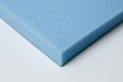 upholstery foam cushions / seat pads. select any size / depth. HIGH DENSITY BLUE