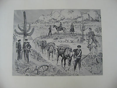 """LITHOGRAPH OF """"THE FAITHFUL MULE""""  BY ARTIST  R. NIETO *1 OF 7 IN SERIES*"""