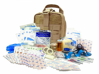 Military Rip-Away EMT First Aid Kit - IFAK Level 1 Army Medic - Tan #FA16