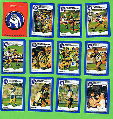 1989  Canterbury Bulldogs  Stimorol Rugby League Cards