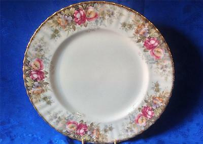 Vintage Royal Albert China, Porcelain Dinner Plate. AUTUMN ROSES Nice. PVID
