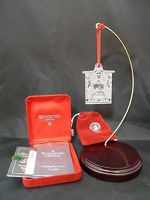 Waterford Crystal Christmas THE STOCKINGS WERE HUNG Ornament SIGNED 1995 NIB