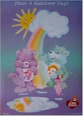 CARE BEARS ~ HAVE A RAINBOW DAY 23x35 CARTOON POSTER NEW/ROLLED!