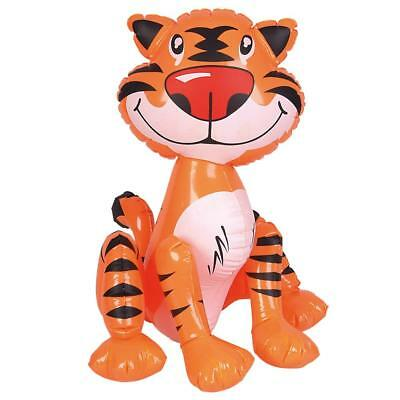 "24"" Giant Inflatable Tiger Zoo Animal Blow Up Novelty - Kids Party Toy Gift"