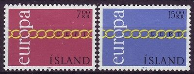 Iceland - Sg482-483 Mnh 1971 Europa