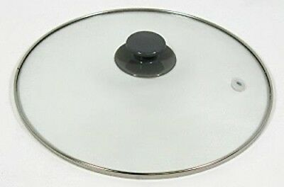 Crock Pot & Slow Cooker 5, 6 Qt Replacement Round Glass Lid for Rival SCRC507-W