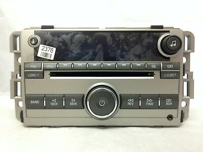 hhr cd mp3 xm ready us8 radio oem factory gm delco stereo lucerne cd6 mp3 xm ready radio oem factory gm delco buick stereo 25992376