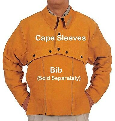 NEW Sz Large 44-46 inch Golden Leather Welding Cape Sleeves