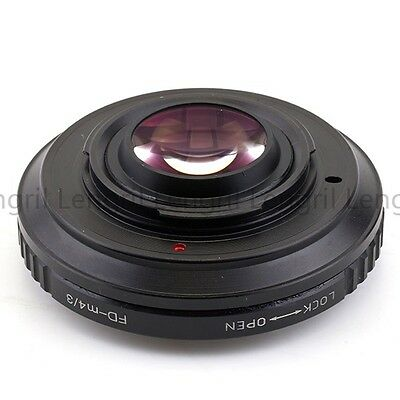 Optical Focal Reducer Speed Booster adapter Canon FD Lens to Micro 4/3 M4/3 GM1