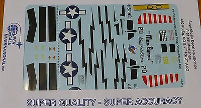 Microscale Decal 1:48 Scale #MS48-948 P-51D Mustangs 505th FS// 339th FG /& 368th