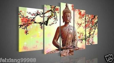 NEW - 5pc Wall Art Religion Buddha Huge Oil Painting On Canvas (No Frame)