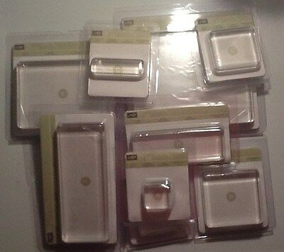 Stampin Up ACRYLIC CLEAR BLOCKS (all sizes) U Choose (New & Sealed)