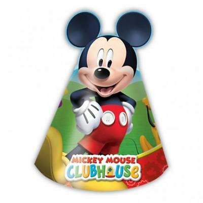 Playful Mickey Mouse Party Cone Hats x 6