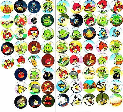 POGS - H-ANGRY68 001 Lot de 68 Pogs ANGRY BIRD