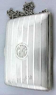 VINTAGE 100 YEAR OLD ANTIQUE PURE .925 STERLING SILVER LEATHER INSERT ebs3258
