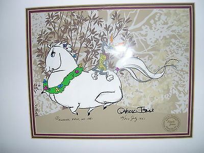 Whats Opera Doc 1  Bugs Bunny & Elmer Fudd signed  Jones framed very rare!!!