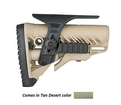 GSPCP-S by FAB Defense Tan CHEEK REST KIT W DUAL PICATINNY RAILS FOR GL-SHOCK