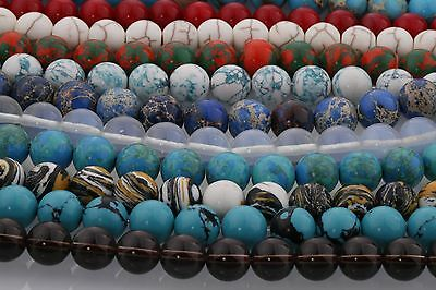 Natural Gemstone Round Spacer Loose Beads 4MM 6MM 8MM 10MM