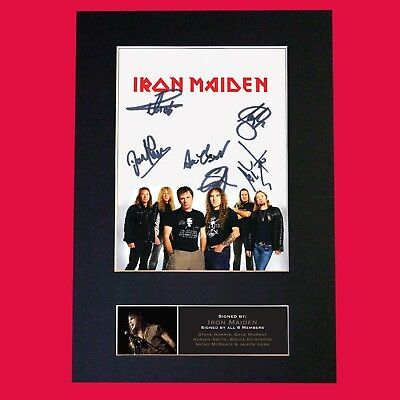 IRON MAIDEN Quality Autograph Mounted Signed Photo Repro A4 Print 542