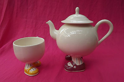 CARLTON WARE Vintage Walking Ware Teapot and Matching Cup