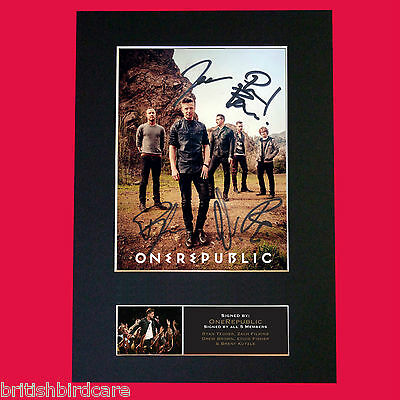 ONE REPUBLIC Signed Autograph Mounted Photo Repro A4 Print 537