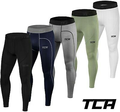 Mens Boys TCA Pro Performance Compression Armour Base Layer Thermal Under Tights