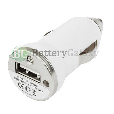 100 USB Mini Car Charger for Apple iPhone SE 4 4S 5 5C 5S 6 6S 7 7S Plus HOT!