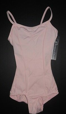 NWT Body Wrappers P360   Princess Seam Camisole Leotard pinch front Blush pink