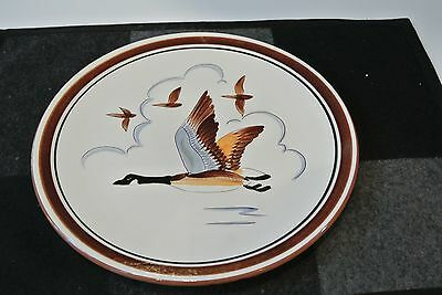 "SUPER VINTAGE LARGE 11 1/4"" Stangl Pottery SPORTSMAN CANADA GOOSE Plate EXCLLNT"