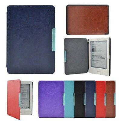 Ultra-thin Magnetic Folio Leather Case Cover Hard Shell for Kobo Touch eReader