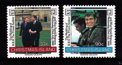 1986 Christmas Island Royal Wedding of Andrew & Sarah - MUH Complete Set