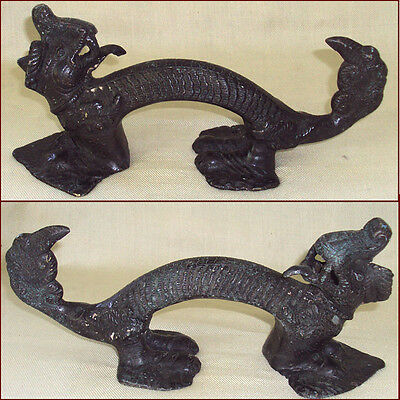 Dragon Door Handle In Heavy Bronze Nepal Tibet
