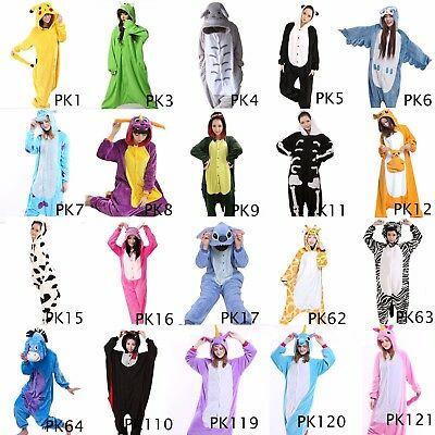 US Seller-Animal Onesies Kigurumi Unisex Cosplay Various Costume Sleepwear PKC1