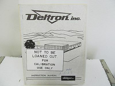 Deltron A 6-23 Solid State Regulated DC Power Supply Instruction Manual w/sche