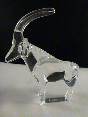 "NEW   BACCARAT Crystal ""ONE""  NOAH'S ARK ANTELOPE Artist Signed $235"