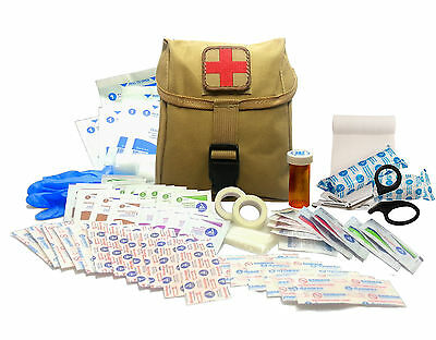 New Recruit First Aid Kit - Military IFAK Army Medic - Tan #FA15